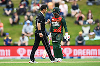 20th March 2021; Dunedin, New Zealand;  Trent Boult celebrates the wicket of Soumya Sarkar during the New Zealand Black Caps v Bangladesh International one day cricket match. University Oval, Dunedin.