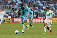 SAINT PAUL, MN - MAY 1: Romain Metanire #19 of Minnesota United FC goes for the ball during a game between Austin FC and Minnesota United FC at Allianz Field on May 1, 2021 in Saint Paul, Minnesota.