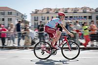 Ilnur Zakarin (RUS/Katusha-Alpecin) at the start<br /> <br /> Stage 12: Cuneo to Pinerolo (158km)<br /> 102nd Giro d'Italia 2019<br /> <br /> ©kramon