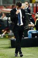 Andrea Stramaccioni.Milano 17/04/2013 Stadio San Siro Giuseppe Meazza .Football Calcio Coppa Italia Semifinale .Inter Roma 2-3 .foto Daniele Buffa/Image Sport/Insidefoto.