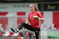 goalkeeper Lisa Lichtfus of Belgium  pictured during the warming up of a friendly female soccer game between the national teams of Luxemburg and Belgium , called the Red Flames  in a preparation towards the qualification for the  FIFA Women's World Cup , on saturday 12 th of June 2021  in Wiltz , Luxemburg . PHOTO SPORTPIX BE   SPP   SEVIL OKTEM