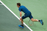 Rotterdam, The Netherlands. 14.02.2014. ABN AMRO World Tennis Tournament Andy Murray(GRB) in his match against Marin Cilic(KRO)<br /> Photo:Tennisimages/Henk Koster