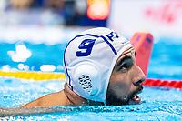 9 FRA MARZOUKI Mehdi France<br />  <br /> Budapest 16/01/2020 Duna Arena <br /> France (white caps) Vs. Italy (blue caps) Men<br /> XXXIV LEN European Water Polo Championships 2020<br /> Photo  ©Giorgio Scala / Deepbluemedia / Insidefoto