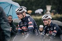 Mathieu van der Poel (NED/Alpecin Fenix) at the race start in Compiègne<br /> <br /> 118th Paris-Roubaix 2021 (1.UWT)<br /> One day race from Compiègne to Roubaix (FRA) (257.7km)<br /> <br /> ©kramon