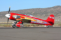 """Owner and pilot Mike Brown taxies the highly modified Hawker Sea Fury """"September Fury"""" after finishing third in the 2008 Unlimited Gold Championship Race of the the 2008 Reno Championship Air Races. September Fury is a previous National Champion when it finished first in the 2006 with a speed of 481.619 mph over the 67.29 mile course."""