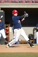 Michael Pates (61) of Riverbend High School in Fredericksburg, Virginia playing for the Atlanta Braves scout team at the South Atlantic Border Battle at Doak Field on November 2, 2014.  (Brian Westerholt/Four Seam Images)