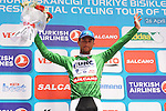 Daniele Ratto (ITA) United Healthcare takes over the Green Sprint Jersey at the end of Stage 7 of the 2015 Presidential Tour of Turkey running 166km from Selcuk to Izmir. 2nd May 2015.<br /> Photo: Tour of Turkey/Mario Stiehl/www.newsfile.ie