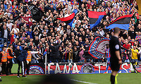 Pictured: Crystal Palace supporters<br /> Re: Premier League match between Crystal Palace and Swansea City at Selhurst Park on May 24, 2015 in London, England, UK