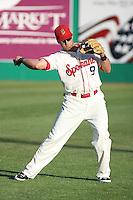 Spokane Indians infielder Michael Olt before a game vs.the Eugene Emeralds at Avista Stadium in Spokane, Washington, on August 20, 2010. Photo By Robert Gurganus/Four Seam Images