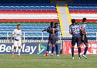 CALI - COLOMBIA, 19-09-2021: Atlético F.C. y Fortaleza CEIF en partido por la fecha 9 del Torneo BetPlay DIMAYOR II 2021 jugado en el estadio Pascual Guerrero de la ciudad de Cali. / Atletico F.C. and Fortaleza CEIF in match for the date 6 as part of BetPlay DIMAYOR Tournament II 2021 played at Pascual Guerrero stadium in Cali. Photo: VizzorImage / Samir Rojas / Cont