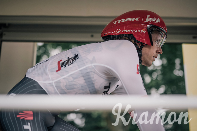 Koen de Kort (NED/Trek-Segafredo) seconds from starting his Tour de France<br /> <br /> 104th Tour de France 2017<br /> Stage 1 (ITT) - Düsseldorf › Düsseldorf (14km)