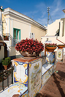 Italien, Capri, Platz vor Santa Sofia in Anacapri