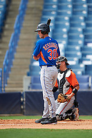 Grae Kessinger (30) of Oxford High School in Oxford, Mississippi playing for the New York Mets scout team during the East Coast Pro Showcase on July 28, 2015 at George M. Steinbrenner Field in Tampa, Florida.  (Mike Janes/Four Seam Images)