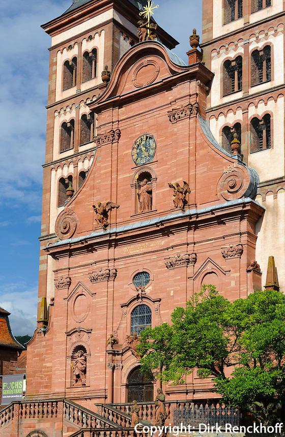 Fürstliche Abtei-Kirche in Amorbach im Odenwald, Bayern, Deutschland