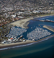 aerial photograph of the Santa Barbara Harbor, California
