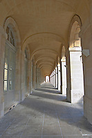 Le Grand Theatre theatre and opera house on Place De La Comedie. Detail. Corridor with columns. Bordeaux city, Aquitaine, Gironde, France