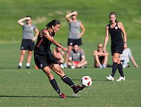 Shannon Boxx. The USWNT practice at WakeMed Soccer Park in preparation for their game with Japan.
