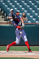Reading Fightin Phils outfielder Destin Hood (7) at bat during a game against the Bowie Baysox on July 22, 2015 at Prince George's Stadium in Bowie, Maryland.  Bowie defeated Reading 6-4.  (Mike Janes/Four Seam Images)