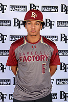 Jordan Matthews (6) of Lee High School in Midland, Texas during the Baseball Factory All-America Pre-Season Tournament, powered by Under Armour, on January 12, 2018 at Sloan Park Complex in Mesa, Arizona.  (Mike Janes/Four Seam Images)