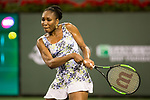 March 12, 2018: Venus Williams (USA) defeated Serena Williams (USA) 6-3, 6-4 at the BNP Paribas Open played at the Indian Wells Tennis Garden in Indian Wells, California. ©Mal Taam/TennisClix/CSM