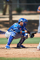 Los Angeles Dodgers Ramon Rodriguez (55) during an Instructional League game against the Cleveland Indians on October 10, 2016 at the Camelback Ranch Complex in Glendale, Arizona.  (Mike Janes/Four Seam Images)