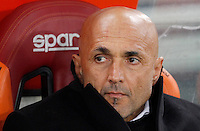 Calcio, Serie A:  Roma vs Palermo. Roma, stadio Olimpico, 21 febbraio 2016. <br /> Roma's coach Luciano Spalletti sits on the bench for the Italian Serie A football match between Roma and Palermo at Rome's Olympic stadium, 21 February 2016.<br /> UPDATE IMAGES PRESS/Riccardo De Luca