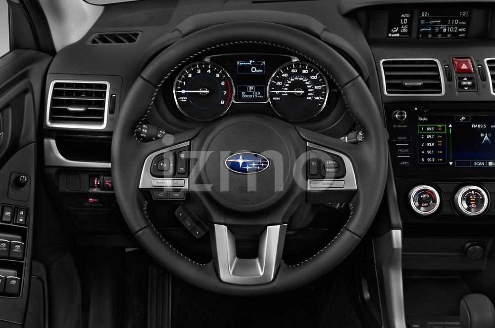 Car pictures of steering wheel view of a 2017 Subaru Forester Comfort 5 Door Wagon Steering Wheel