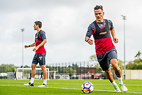 Wednesday 26 July 2017<br /> Pictured: Roque Mesa in action during training <br /> Re: Swansea City FC Training session takes place at the Fairwood Training Ground, Swansea, Wales, UK