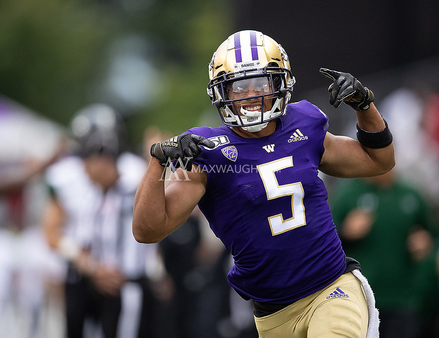Myles Bryant celebrates after his second interception of the day.