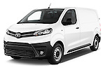 2016 Toyota Proace Comfort 4 Door Cargo Van Angular Front stock photos of front three quarter view