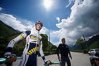 Vacansoleil-DCM Tour de France 2012 recon stage 11..Wout Poels before going up the Glandon