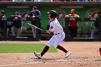 Wisconsin Timber Rattlers outfielder Sal Frelick (17) swings at a pitch during a game against the Cedar Rapids Kernels on September 8, 2021 at Neuroscience Group Field at Fox Cities Stadium in Grand Chute, Wisconsin.  (Brad Krause/Four Seam Images)