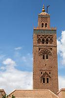 Marrakesh, Morocco.  Koutoubia Minaret, 12th. Century.