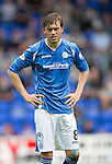 St Johnstone v Motherwell...22.08.15  SPFL   McDiarmid Park, Perth<br /> Murray Davidson<br /> Picture by Graeme Hart.<br /> Copyright Perthshire Picture Agency<br /> Tel: 01738 623350  Mobile: 07990 594431