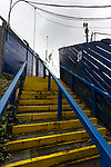 Stairs to The closed away end. Stockport County v Barnet, 07032020. Edgeley Park, National League. Photo by Paul Thompson.