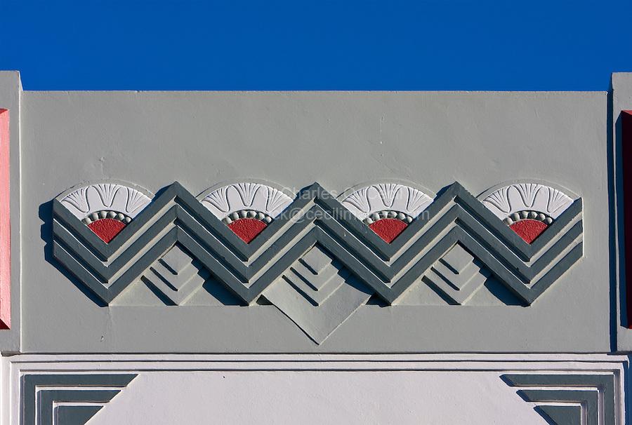 Art Deco Architecture, Napier, north island, New Zealand.