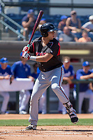 Lake Elsinore Storm Hudson Potts (15) at bat against the Rancho Cucamonga Quakes at LoanMart Field on April 22, 2018 in Rancho Cucamonga, California. The Storm defeated the Quakes 8-6.  (Donn Parris/Four Seam Images)