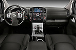 Straight dashboard view of 2010 Nissan Navara LE 4 door Pick-Up Truck Stock Photo