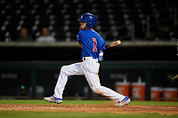 AZL Cubs 1 Ezequiel Pagan (1) at bat during an Arizona League game against the AZL Padres 1 on July 5, 2019 at Sloan Park in Mesa, Arizona. The AZL Cubs 1 defeated the AZL Padres 1 9-3. (Zachary Lucy/Four Seam Images)
