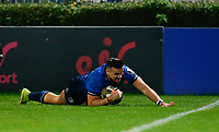 16th November 2020; RDS Arena, Dublin, Leinster, Ireland; Guinness Pro 14 Rugby, Leinster versus Edinburgh; Cian Kelleher of Leinster slides in for a try