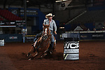 Sherrri Barnes during the second round of barrel qualifiers at the WCRA Stampede at the E. Photo by Andy Watson