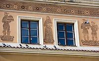 Europe/Pologne/Lublin: la place du marché-Rynek Détail des maisons de la place