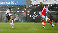21st November 2020; Liberty Stadium, Swansea, Glamorgan, Wales; English Football League Championship Football, Swansea City versus Rotherham United; Matt Grimes of Swansea City shoots to score his sides first goal making it 1-0 in the 28th minute