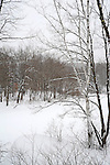 Snow Falling on a Tranquil Ashuelot River in Marlow New Hampshire