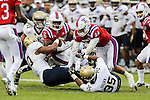 Louisiana Tech Bulldogs running back Boston Scott (6) in action during the Armed Forces Bowl game between the Louisiana Tech Bulldogs and the Navy Midshipmen at the Amon G. Carter Stadium in Fort Worth, Texas.