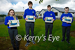 Students from Castleisland Community College 2021 graduation class. L to r: Edel Brosnan, Donnacha McSweeney, Kyle O'Connor and Darren Breen