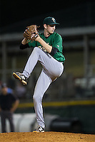 Savannah Sand Gnats relief pitcher Jimmy Duff (25) in action against the Hickory Crawdads at L.P. Frans Stadium on June 15, 2015 in Hickory, North Carolina.  The Crawdads defeated the Sand Gnats 4-1.  (Brian Westerholt/Four Seam Images)