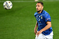 Danilo D Ambrosio of Italy in action during the Uefa Nation A League Group 1 football match between Italy and Netherlands at Atleti azzurri d Italia Stadium in Bergamo (Italy), October, 14, 2020. Photo Andrea Staccioli / Insidefoto