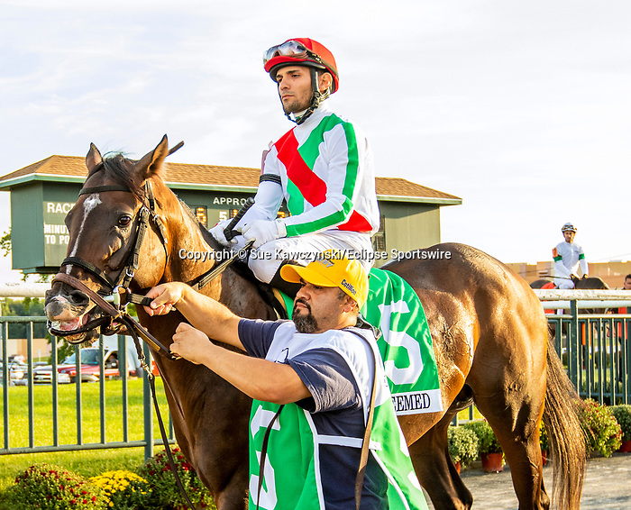 SEPT 25, 2021: I Am Redeemed post parade in the Gr.1 Pennsylvania Derby, for 3-year olds, going 1 1/8 mile, at Parx Racing, Bensalem, PA. Sue Kawczynski/Eclipse Sportswire/CSM