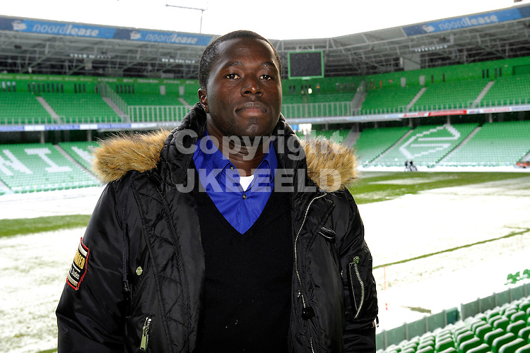 voetbal gibril sankoh fc groningen in euroborg seizoen 2009-2010 18-12-2009